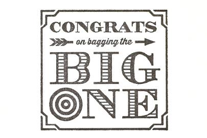 bag the big one congrats card