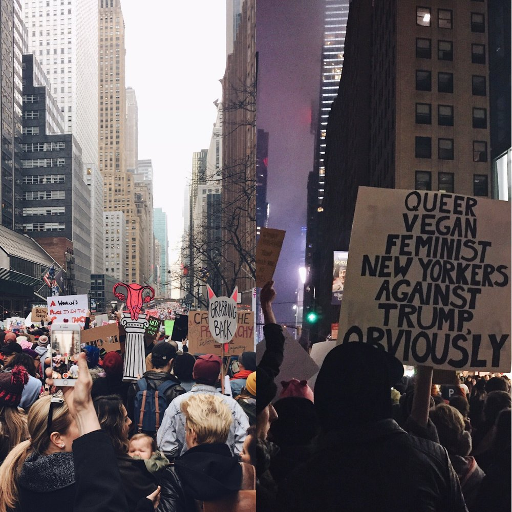 From the March in New York City Image courtesy of Emily Lavieri-Scull