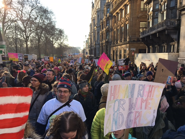 From the March in London, England Image courtesy of Jo Mortimer