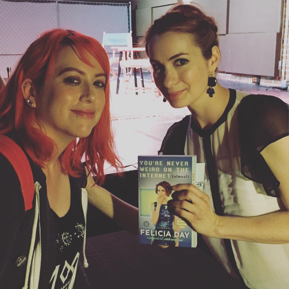 Oh and by the way, I recently went to Felicia Day's book signing. She was hilarious, awesome and super authentic in person. It was a wonderful event!