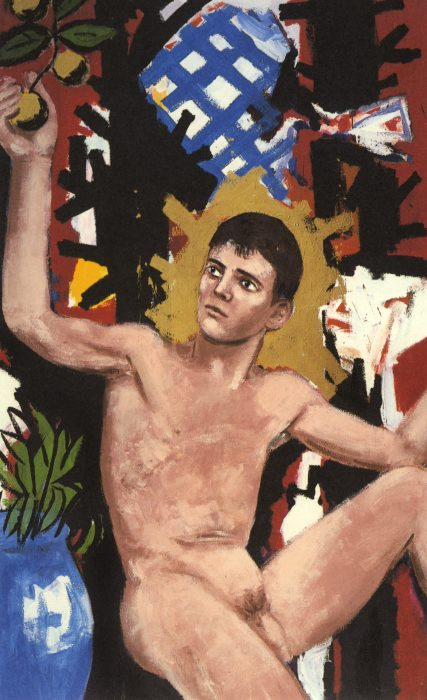 "Boy With Apples , oil on canvas, 92x56"", 1984"