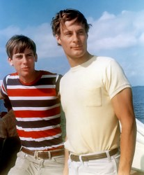 Larry and Arthur, Florida Bay, 1968