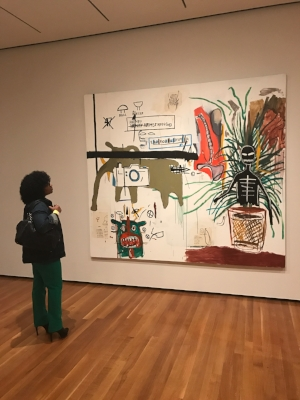 Zoe at Basquiat: The Unknown Notebooks Exhibit