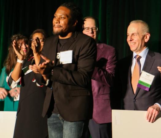 Accelerate 2018 Winner, Tory Coats photo courtesy of Cleveland Leadership Center