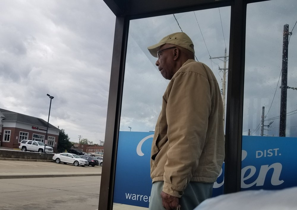 A nice man I met waiting for the 5. I hope he found another way to get to his appointment