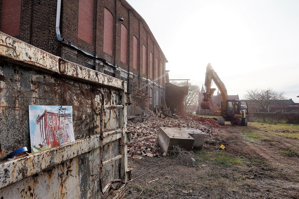 The Scott-Mebane Mill Demolition - Admittedly, I've passed this building many times not knowing anything about it. I went there on this particular morning in the same predicament. Despite my lack of knowledge, I witnessed a community unhappy about its fate. I simply asked