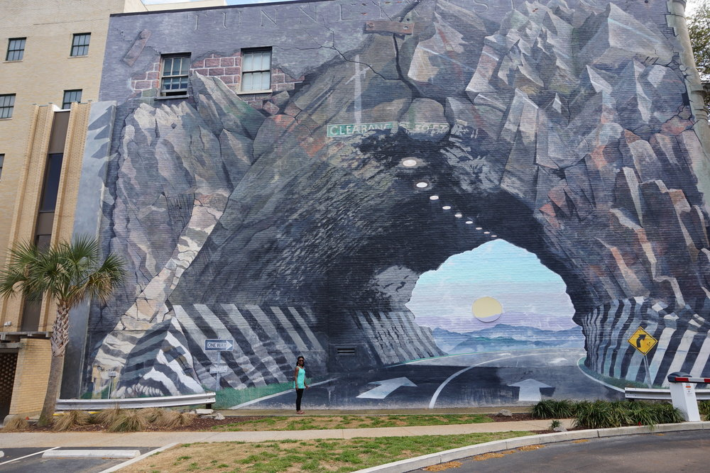 Tunnelvision Mural by Blue Sky