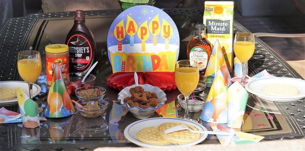 Waffle bar celebration brunch