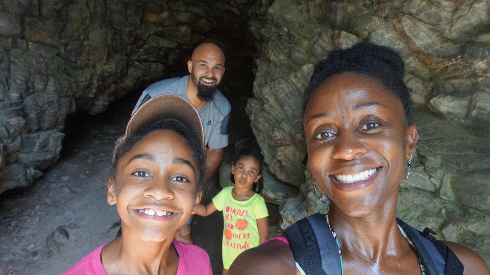 Adventurous black family