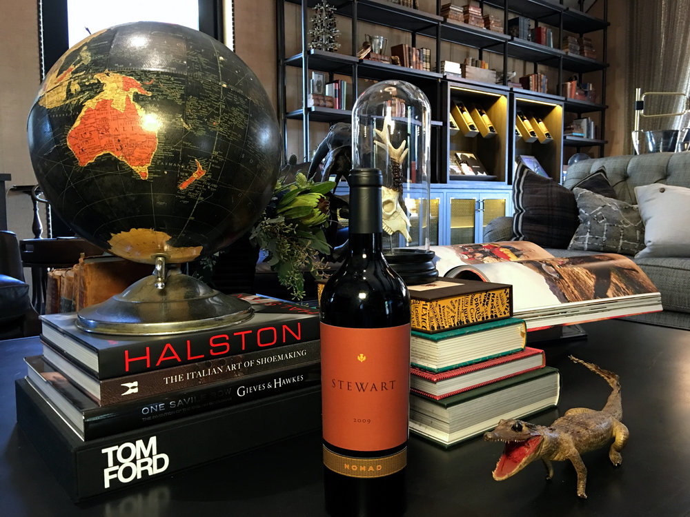 All library wines are guarded by their baby croc who is actually well tempered ( Photo: Mike Casey,The 29 Napa )