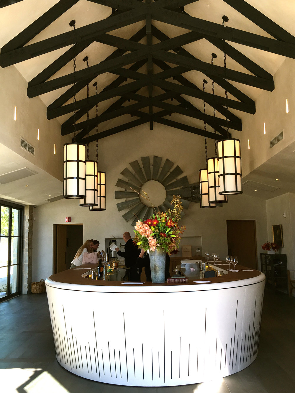 Main tasting room with vaulted ceilings ( Photo: Mike Casey,The 29 Napa )