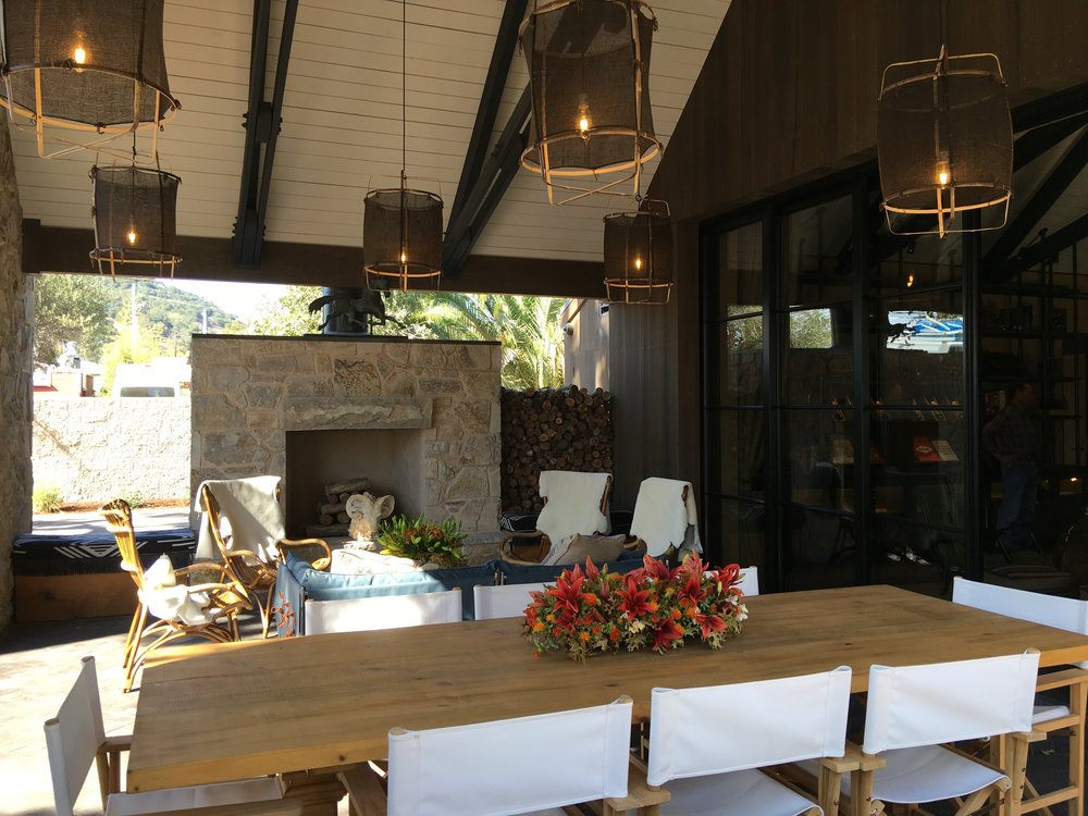 Nomad Heritage tasting room private terrace ( Photo: Mike Casey,The 29 Napa )