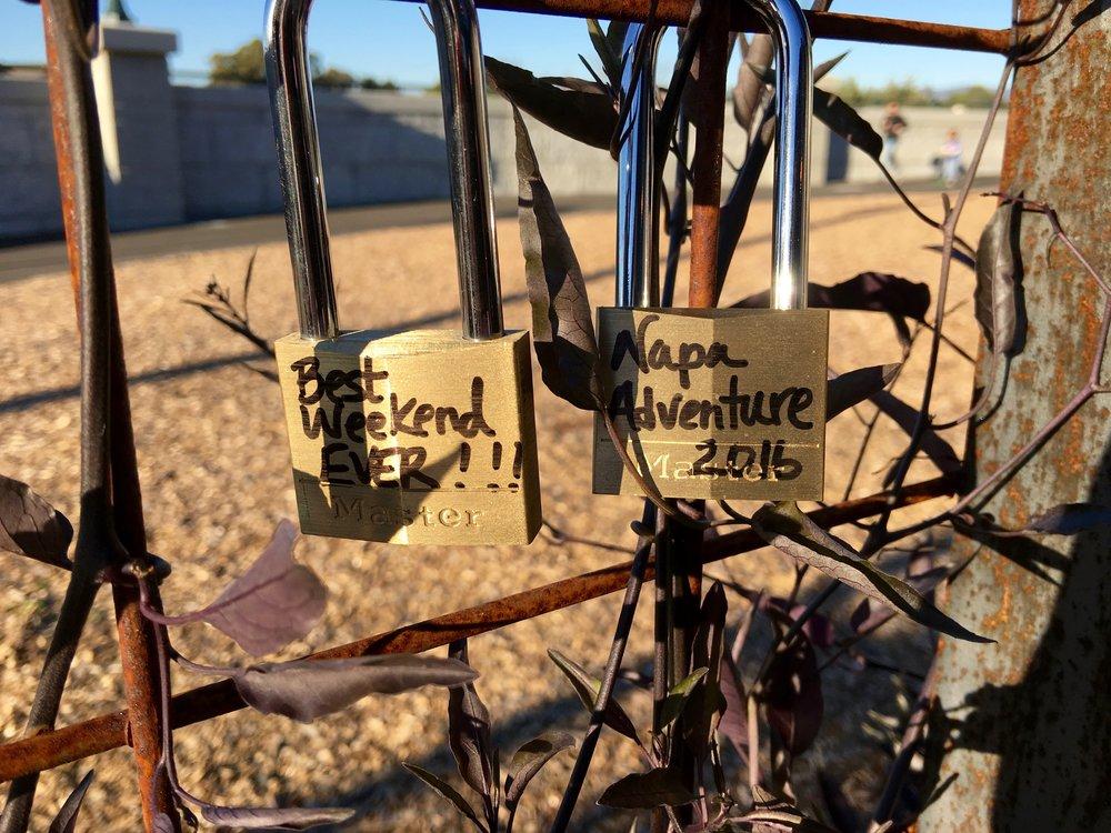 """""""Love Locks"""" Napa style (  Photo: Mike Casey,The 29 Napa   )"""