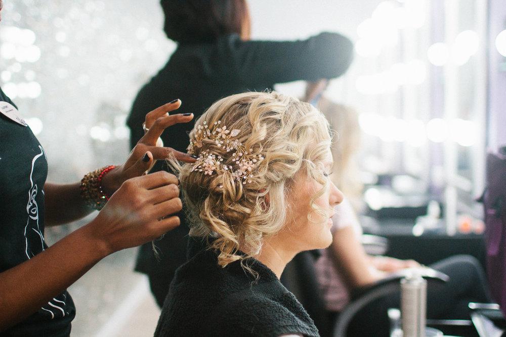 Punta Cana destination wedding, bride getting ready for her wedding day