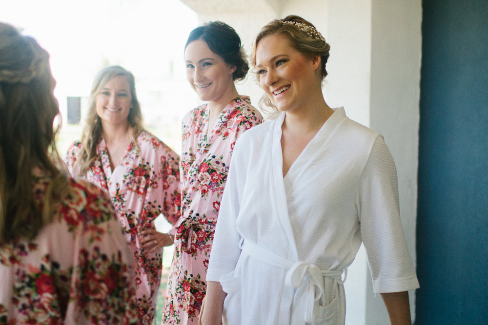 Punta Cana destination wedding, bride enjoys time with her bridesmaids before her wedding