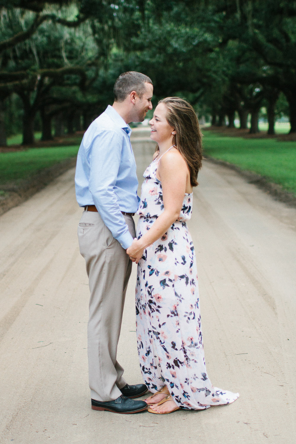 Engaged couple at Boone Hall Plantation, Charleston South Carolina by Danielle Gallo Photography