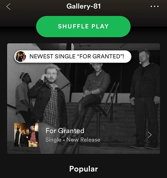 "#repost @carmen.gabriel.official  New single ""For Granted"" is live everywhere you can get music! You can find it featured at our main artist page on @spotify ! Head to the link in the bio to check it out! • • • #music #local #chicago #rocknroll #punk #pop #poppunk #punkrock #poprock #indie #alternative #spotify #art #artist #artists #singer #song #nofilter"
