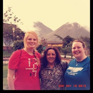 My sister is on the right. This is a picture of her, her friend, and her host mom in Ecuador.