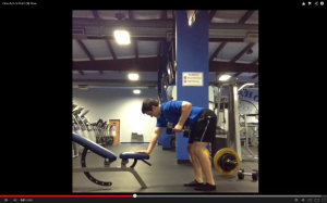 An example of the traditional one-arm 3 point dumbbell row.