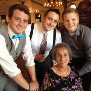 Grandma and me! The other guys are just my lame younger brothers. Okay actually there both also pretty cool people, but today's about Grandma.