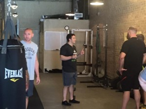 Discussing the finer points of offering two different squat variations.