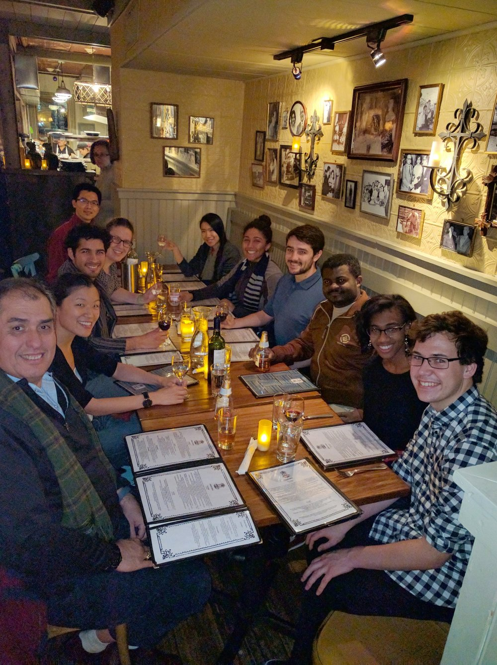 Group holiday dinner, 2016