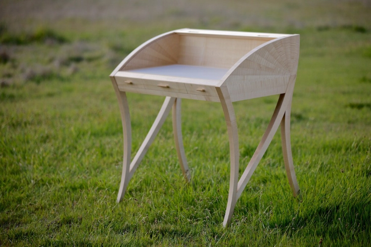 "Leviathan, a tambour desk by Sarah Marriage. A Handful of Salt described Leviathan as, ""wickedly seductive, in a very proper way."""
