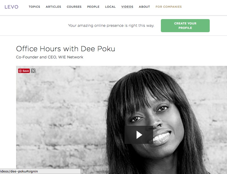 Levo League. Office Hours with Dee Poku.   Read more
