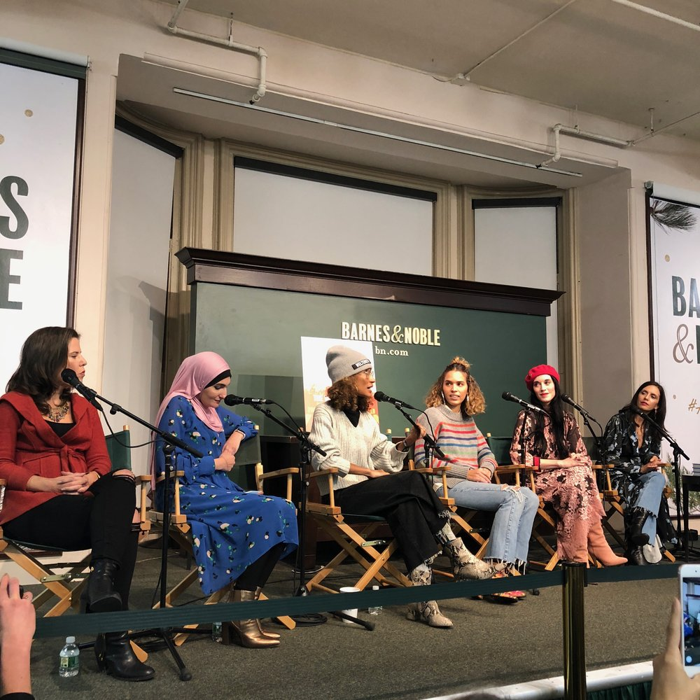 Cassady Finlay,  Linda Sarsour, Elaine Welteroth, Cleo Wade, Sarah Sophie Flicker, Paola Mendoza, Cindy Leive