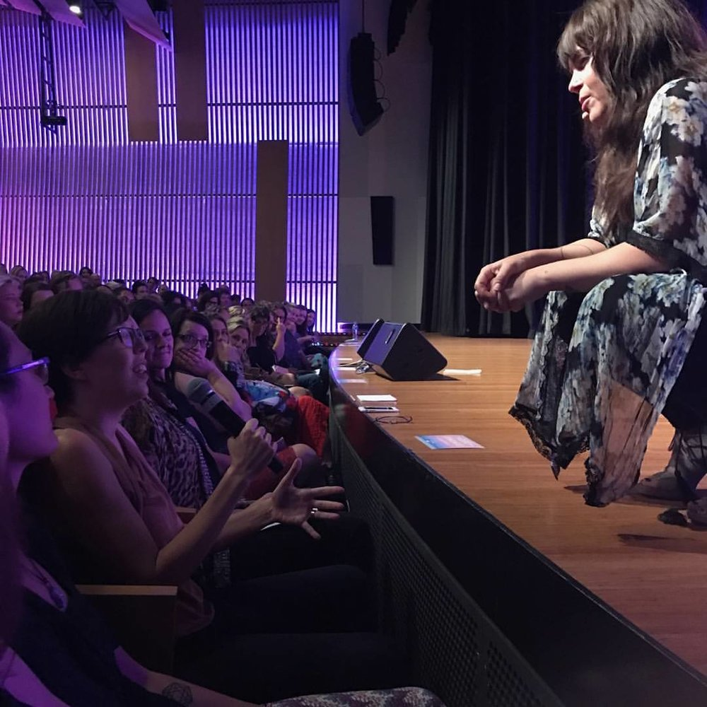 The moment I spoke up about Tantra, how it is coercive and pushes the expectation of better/higher orgasms at Danielle LaPorte's Brisbane Event. Wow!!