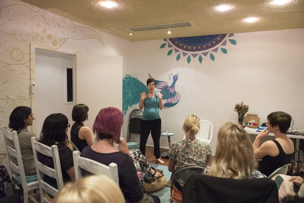 A snapshot from the Hot Mamas Seminar in 2016 at Silo Paddington.