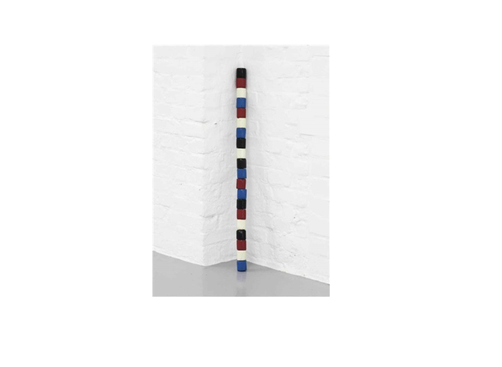 André Cadere  Untitled (Bâton)  1977 Paint on wood 82.4 x 4 cm 32.4 x 1.6 in