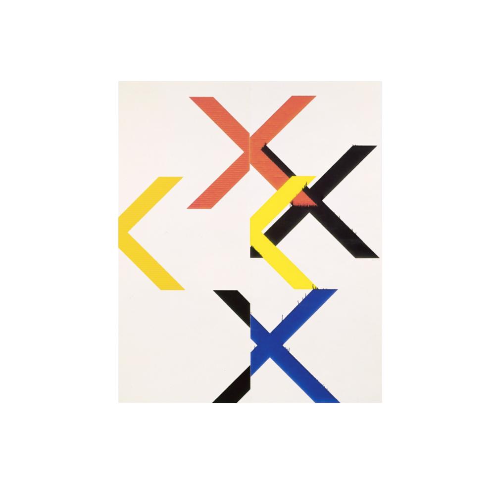 Wade Guyton ,    Untitled    ,  2010,Epson UltraChrome inkjet on linen,84 × 69 in 213.4 × 175.3 cm