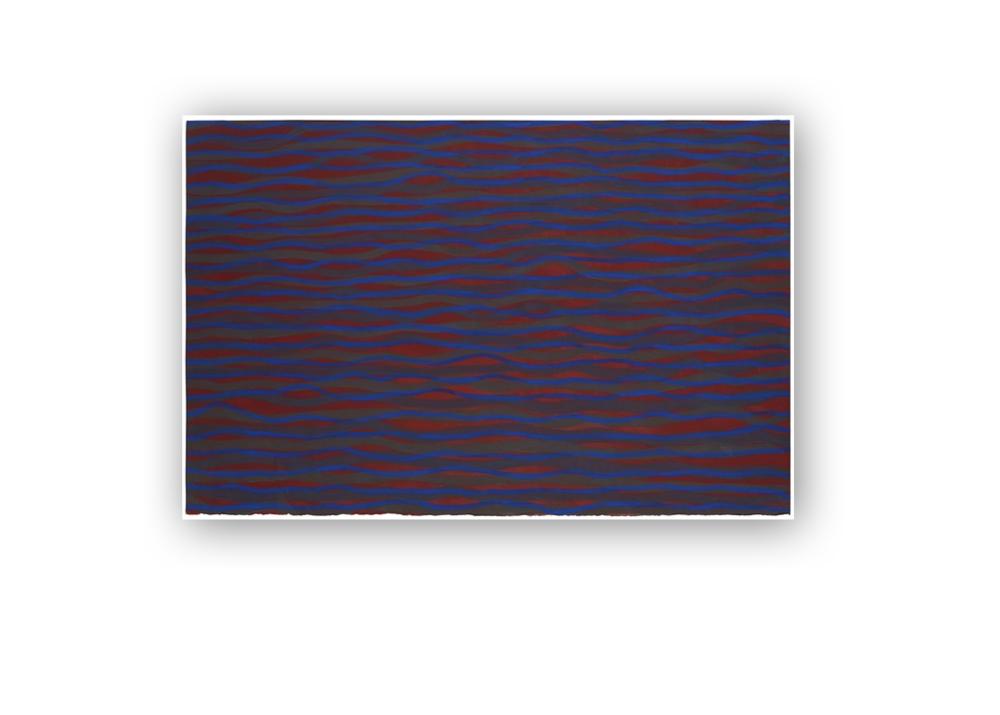 Sol LeWitt,  Horizontal Bands,  2003, Gouache on paper 75 x 115 cm,29.5 x 45.3 in