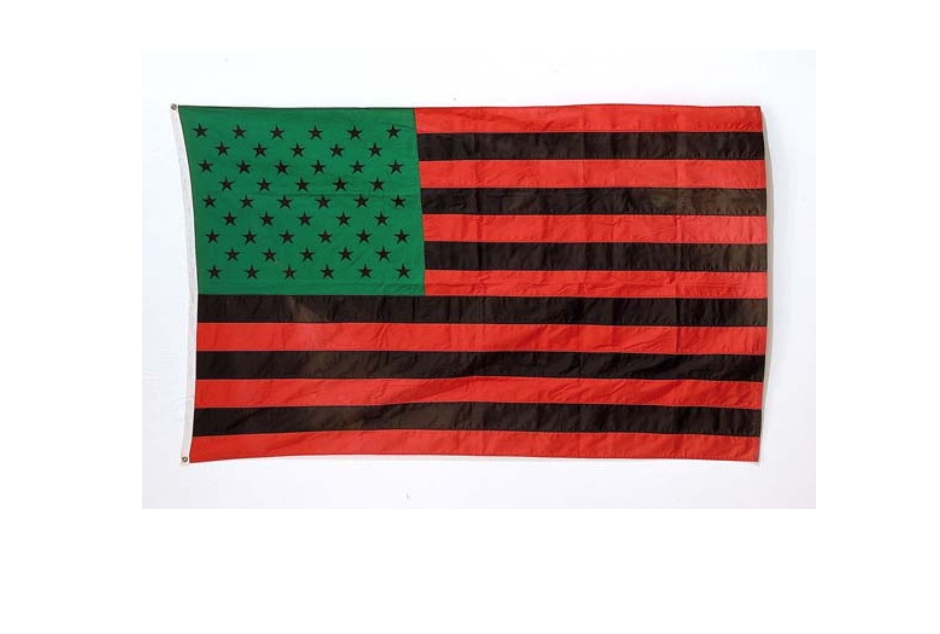 David Hammons,  African American Flag , 1990, 142.2 x 223.5 cm, 55.9 x 87.9 in