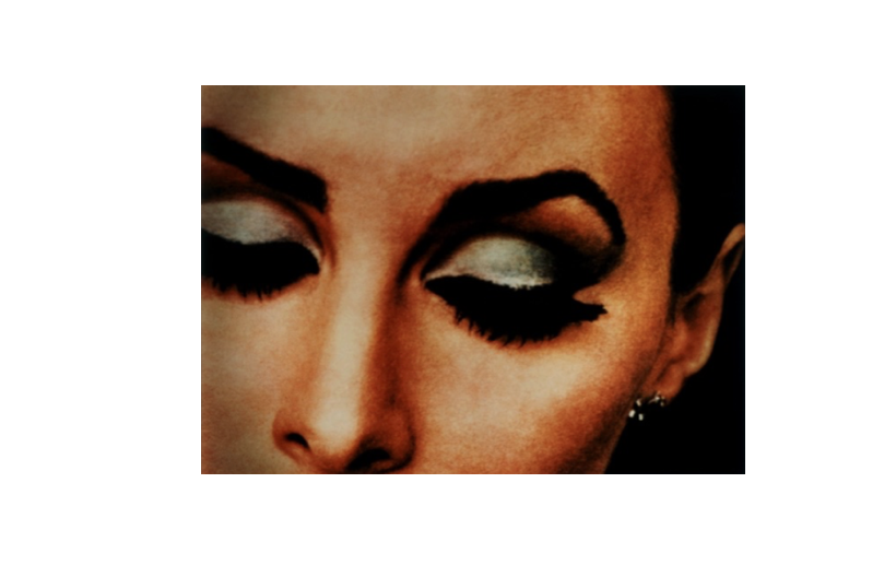 Richard Prince,  Untitled  (Woman with Eyelashes), 1983, Ektacolor photograph, 27 x 40 in 68.6 x 101.6 cm