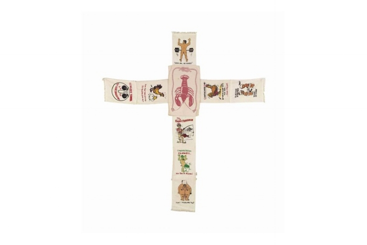 Mike Kelley,  Sweaty Cross , 1989