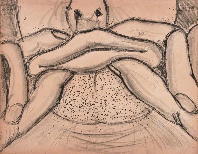 Bruce Nauman, Soft Ground Etching - Coral , 2007
