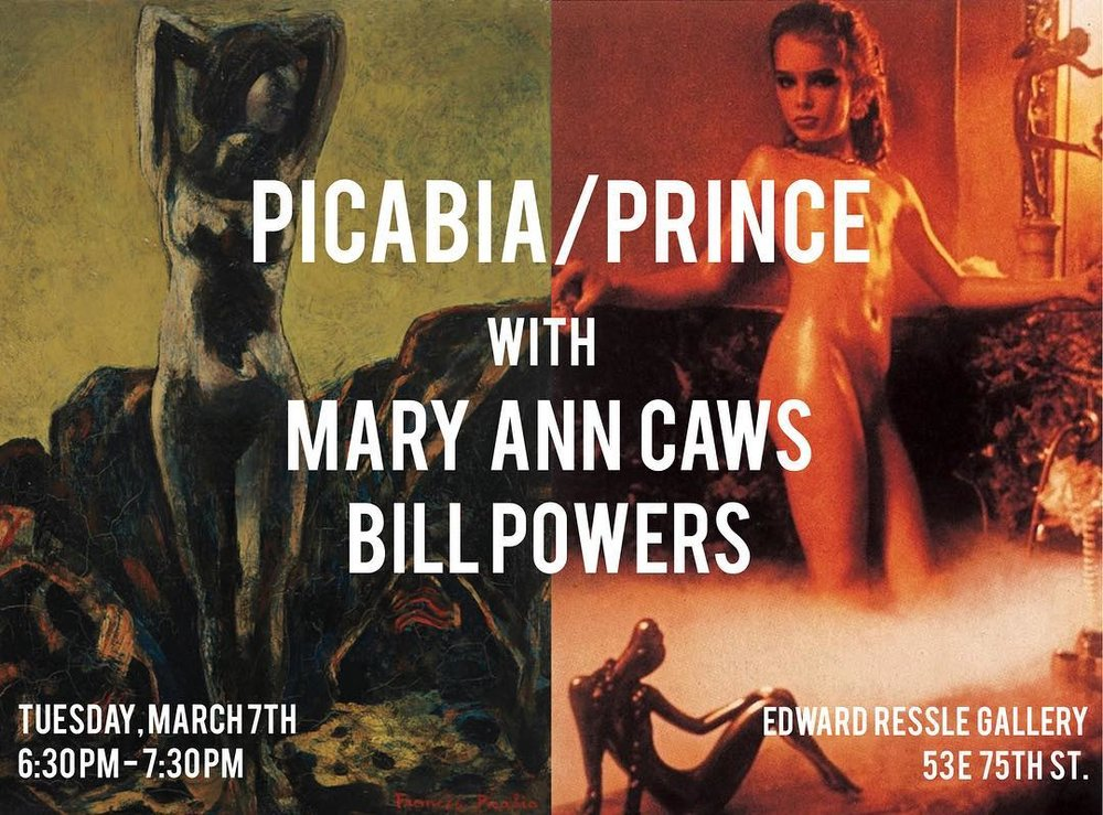 PICABIA / PRINCE: A Panel Discussion   Tuesday, March 7, 2017     6:30-7:30pm