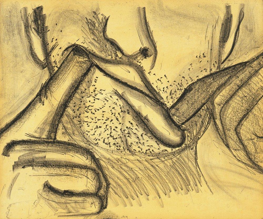 Bruce Nauman, Soft Ground Etching – Yellow, 2007
