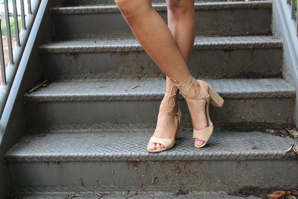 Lace-Up Shoes - We are loving the lace-up shoe trend. They give your chunky heels or ballet flats a much needed upgrade!