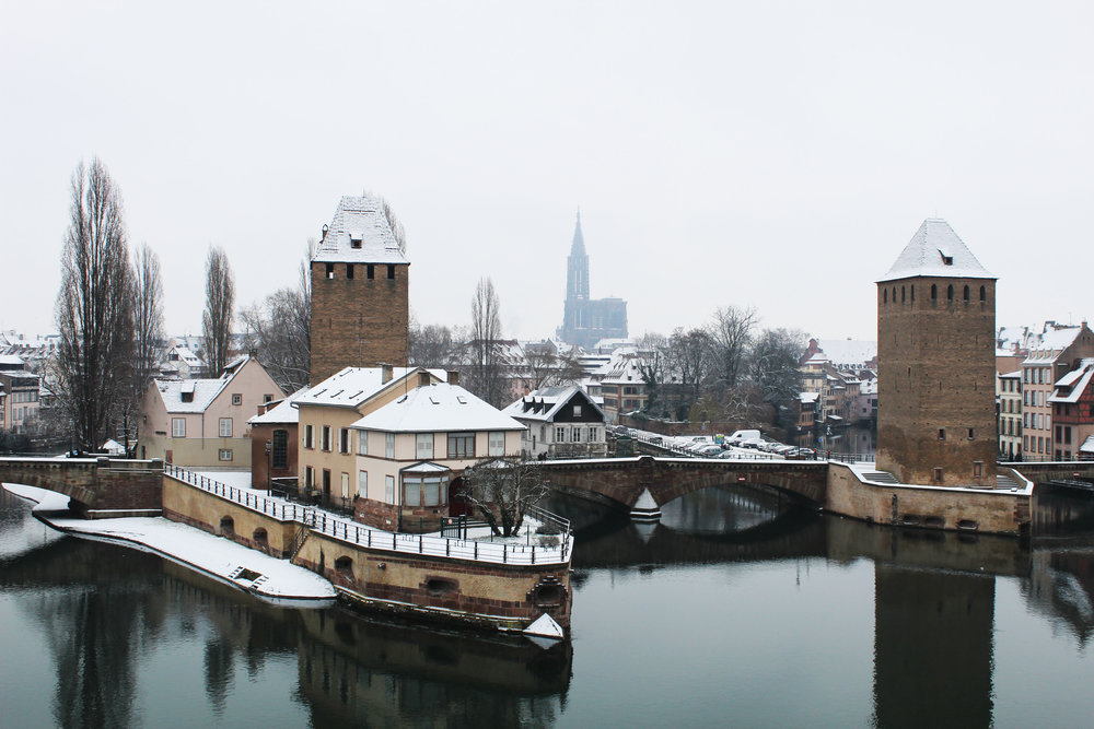 Snow in Strasbourg