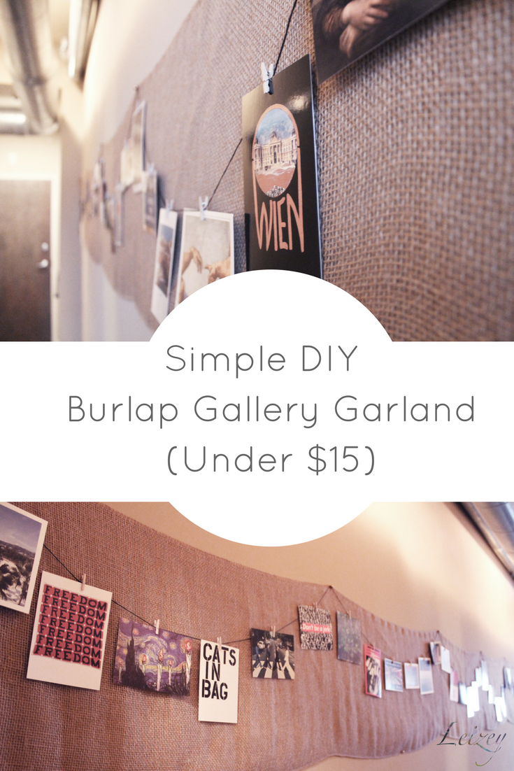 DIY Burlap Gallery Garland