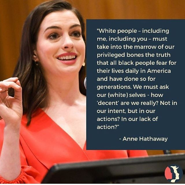 Anne Hathaway's statement on racial injustice speaks to the importance of having allies in the fight for equality  #repost @womensmarch