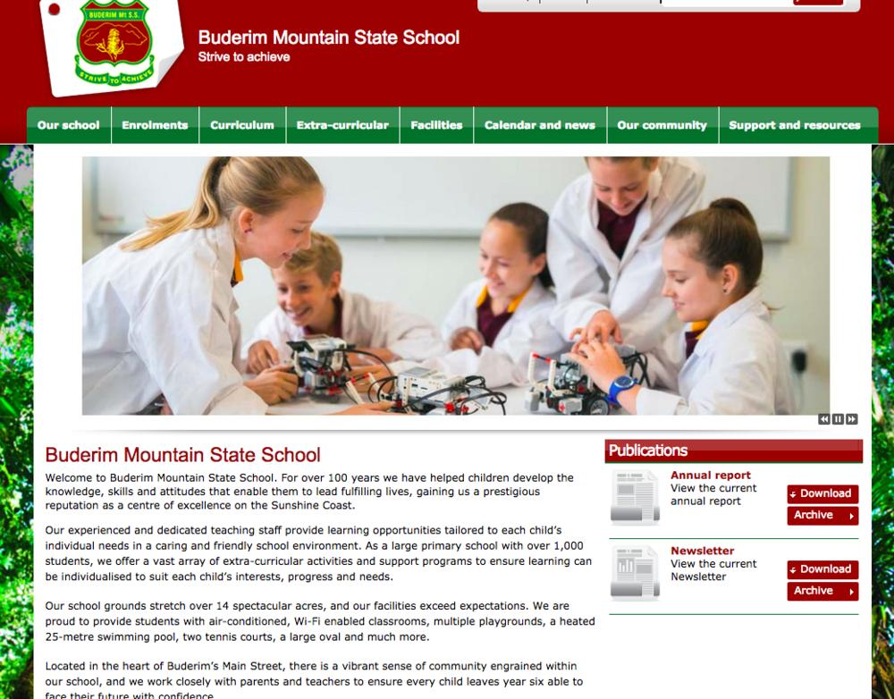 Buderim Mountain State School website copy