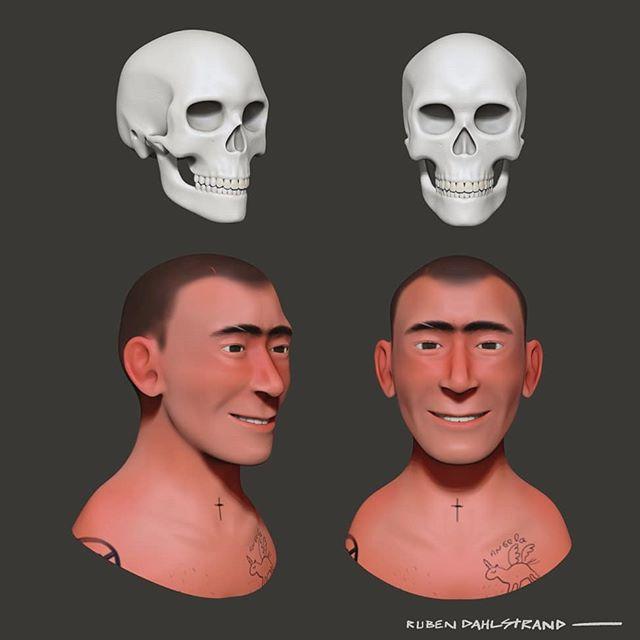 Skulptering är sjukt coolt! Och det känns nästan mer som att rita än som 3d på många sätt #zbrush #3dsculpt #zbrushsculpt #characterdesign