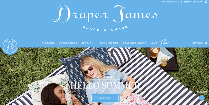 Draper James, the home of grace, charm, and monograms!