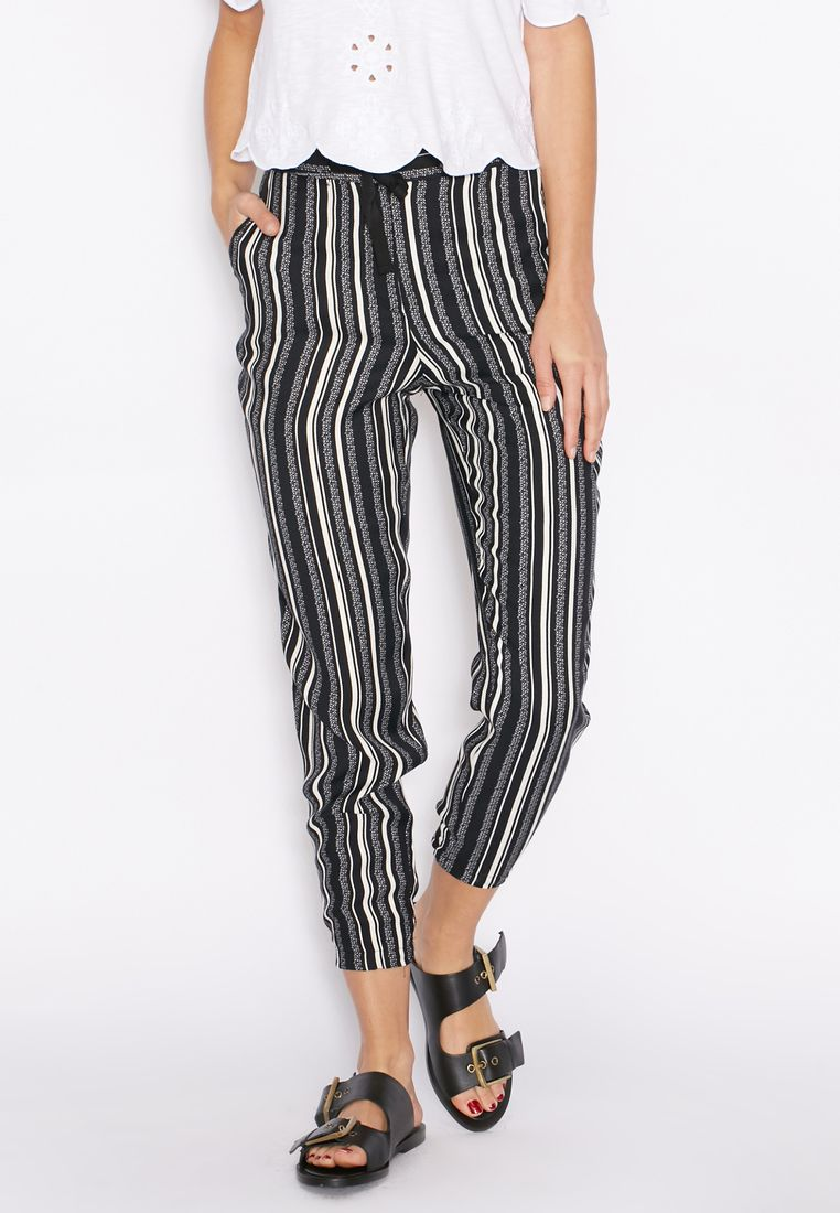TOPSHOP// Striped Tapered Pants// 240 AED/SAR