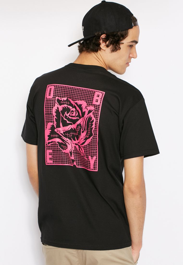 OBEY// Rose Grid T-Shirt// 125 AED/SAR