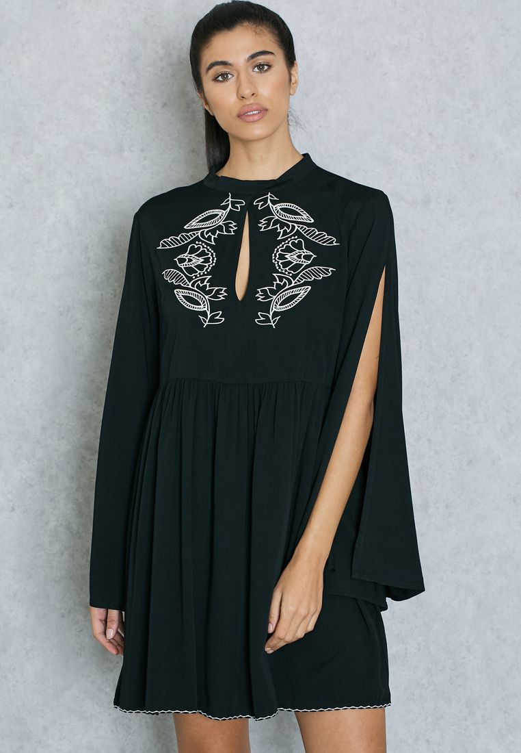 MINK PINK//Embroidered Open Sleeve Dress// 395 AED/SAR